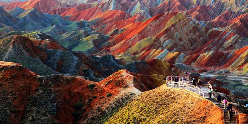 Геологический парк Чжанъе Данся Ландформ. Ганьсу, Китай