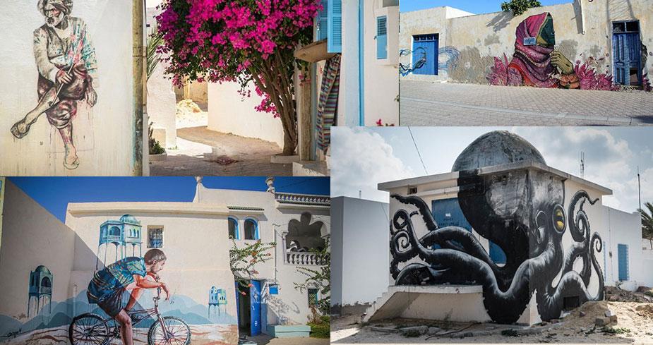 Джербахуд – квартал художников в деревне Эр-риад.