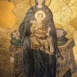 Мозаичное изображение Богородицы в апсиде