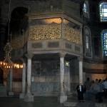 Собор Святой Софии в Стамбуле - Ложа Султана, декорированная братьями Фоссати