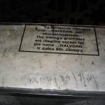 Собор Святой Софии в Стамбуле - одна из рунических надписей