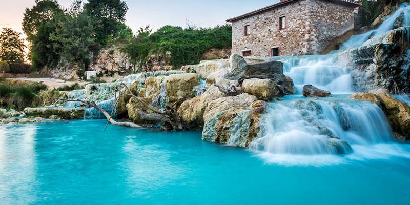 Cascate del Mulino. Saturnia, Италия