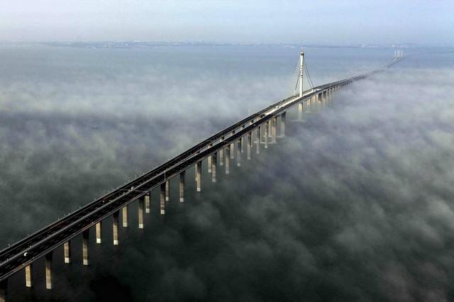 Самый длинный мост в мире - Танян-Куньшаньский виадук. Китай