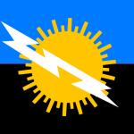 Молния Кататумбо на флаге Венесуэльского штата Сулия