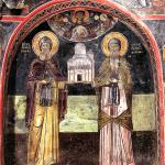 Основатели Преображенского монастыря Афанасий Метеорский и Иоасаф Метеорит
