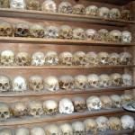 Останки людей, умерших в Мегала Метеора. Греция