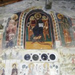 Сцена второго пришествия на стене Преображенского монастыря