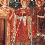 Святые Георгий Каппадокс, Димитрий Великий Дукс и Нестор