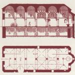 Разрез и чертежи старого алтаря
