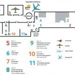 Схема музея авиации и космонавтики в Ле Бурже