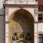 Астрономические часы Оломуца в 1969г.