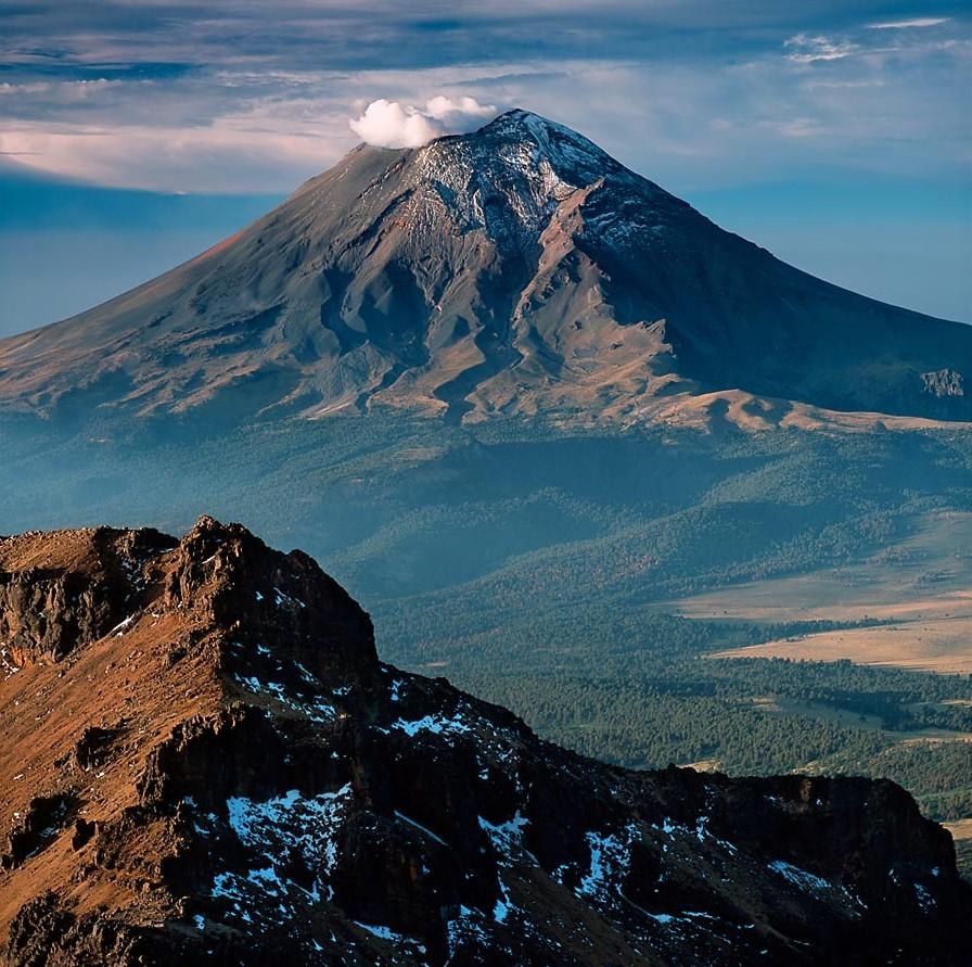 Вулкан Попокатепетль — история любви. Мексика