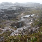 Гора Рорайма. 10ти метровый водопад