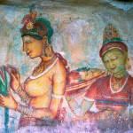 Сигирия - фрески. Шри-Ланка