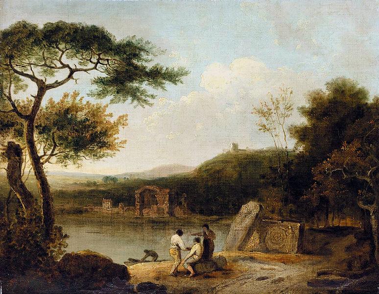 Озеро Аверно на картине Ричарда Уилсона
