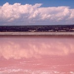 Розовое озеро Хильер в Австралии