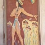 """Фреска """"Принц с лилиями"""" в Кносском дворце"""
