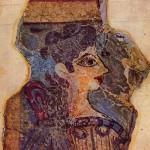 Фреска «Парижанка», жрица божества, XV век до н. э. в Кносском дворце