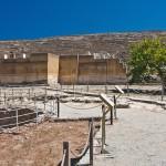 Западный двор Кносского дворца, Греция