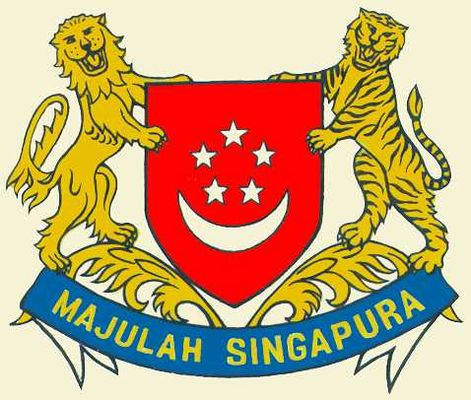 Картинки по запросу сингапур герб флаг