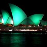 Световое шоу. Сиднейский оперный театр