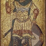 Дмитрий Солунский. Мозаика собора, 12 век